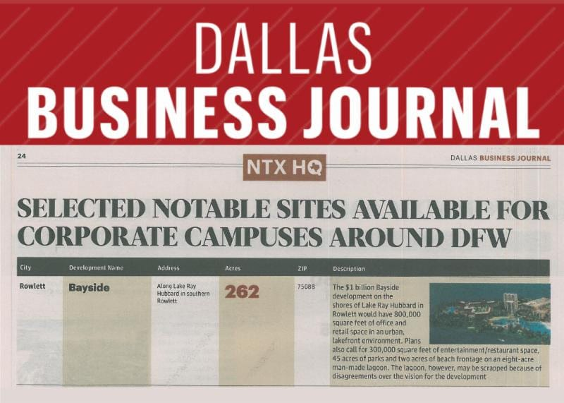 Dallas Business Journal Notable Corporate Campus